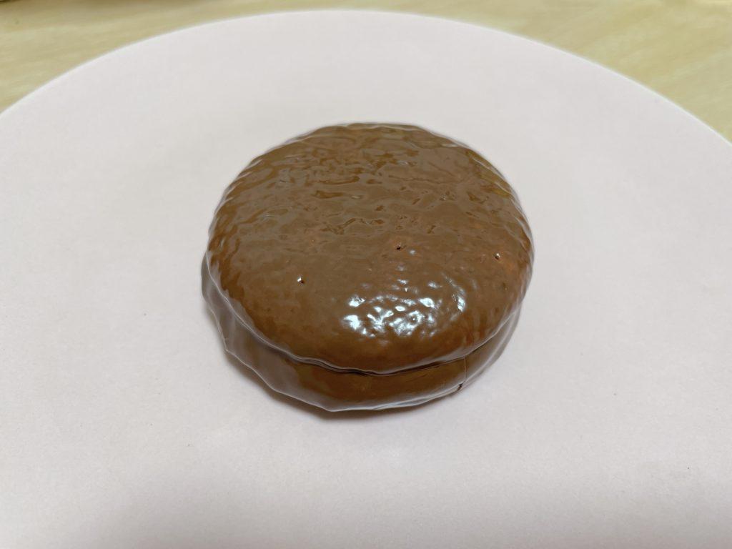 ォンダンショコラ風チョコパイの試作画像です
