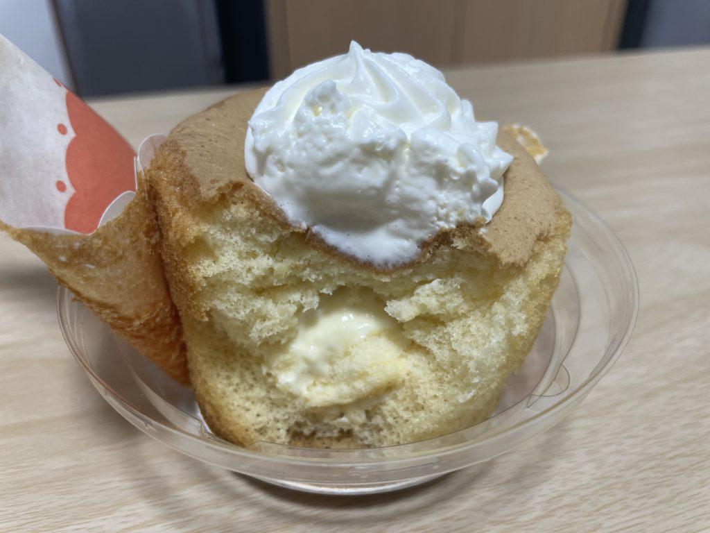 FUWAFON-フワフォン- ふわふわシフォンケーキの断面図です